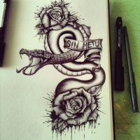 Snake and Roses 2.0 by mmpninja