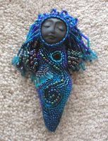 Beaded Mini River Goddess Doll by jardan