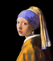 Girl with a Pearl Earring by headlight