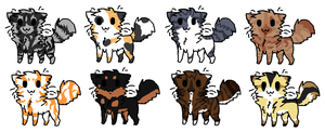 Cat adoptables, 2 Points each! by khasaki