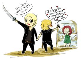 TMI - Chibi Sebas, Jace and Clary by RoItsSomething