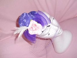 Lilac Flower Bow Butterflies by nashimiron