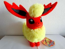 Flareon 2012 plush by TakaraTomy by Gallade007