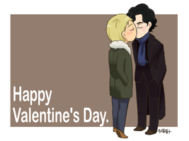 Happy Valentine's Day_Sherlock+John by aulauly7