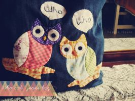 'Who Owl' Jeans Handmade by heppieyippie