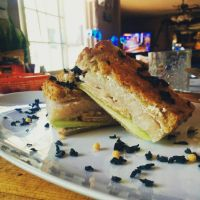 Croque Monsieur with cured hamachi, cream cheese by ThomasVo