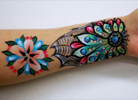 Painted Arm-Jamie Graden by PaintOnYourFace