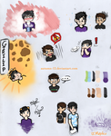 Skethcbook Page : Dan and Phil Chibis by Autumn-12