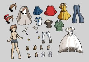 Material Girl:  Paper Doll by HeartGear
