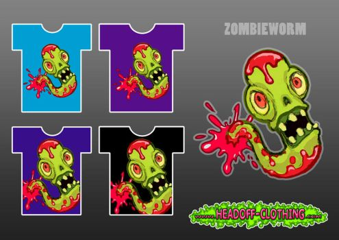 ZOMBIEWORM (headoff shirt concept) by jaykay86