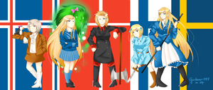Nyotalia: Nordic 5! by Gardevoir1997