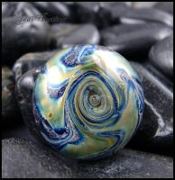 Star Gate - Lampwork Glass Cabochon by andromeda
