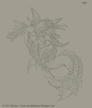 Leviathan Colossus WIP by VNC-Children