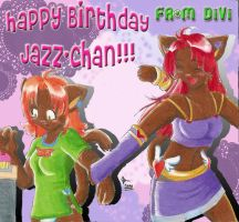 Happy B-DAY Jazz-chan by divi