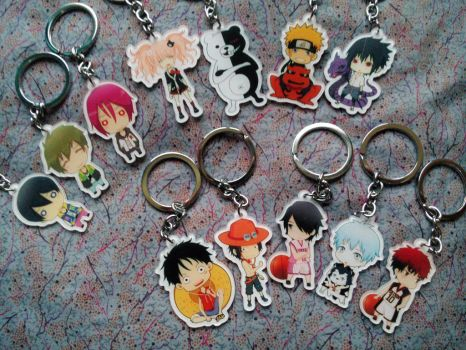 Anime Keychains by J,K by Ether-Nether