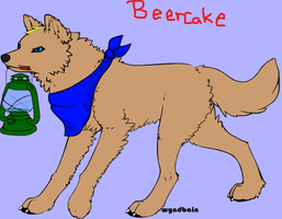 Beercake as a wolf by Lizliebe