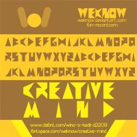 creative mind font by weknow by weknow