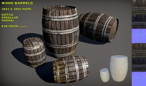 Free Wood Barrel Pack by Nobiax