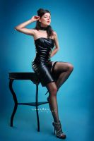 pin-up  leather beauty 3 by ladyLara79