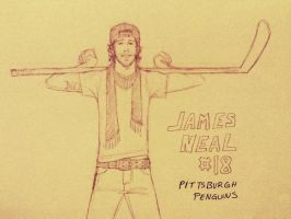 More James Neal by zombiepencil