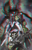 Guardians of the Galaxy in 3D Anaglyph by xmancyclops