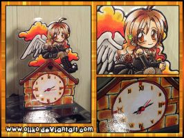 Custom Angel Clock by oliko