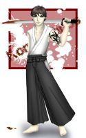Hakama kick butt :P by lapixlaxuli