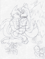 Gift WIP: By the Christmas Tree by glaciethewolf
