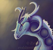 Imperial Plated Dragon by Zyleeth