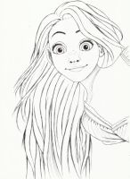 rapunzel by carldraw