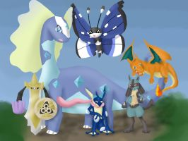 Pokemon X Team by Minthia