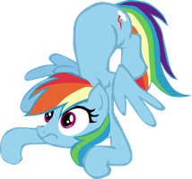 Rainbow Dash Crash Vector by Longdayart