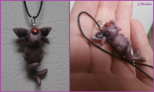 Polymer Clay Espeon Necklace by Monkiki62