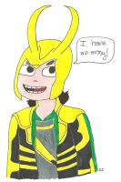 Scott Pilgrim Style Loki by TheSimpsonsFanGirl