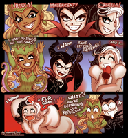 Once Upon a Time: Chibie Queens of Darkness by daekazu