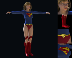 Supergirl-wipprogress by Teyco