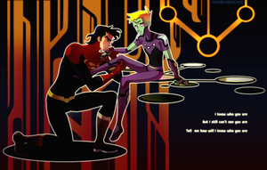 Kell-El and Brainiac 5 by nastrond