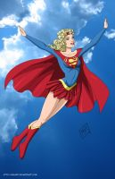 Supergirl flies commission by mhunt