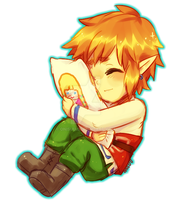 zelda -- Link and pillow by onisuu