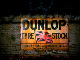 Dunlop Tyre Stock by redcatmoonlight