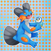 Swampert and Piplup by Elieda