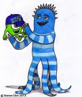 Monster University - Frank McCay and Young Mike by Rocket-Stevo