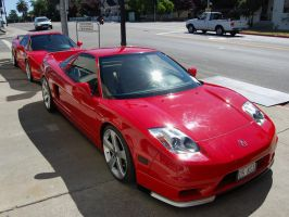2 red Acura NSXs 51 of 249 by Partywave