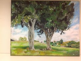 Two Trees Painted by Redaer636XT