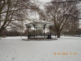 Bandstand in the snow by marshmallow-away