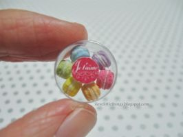 Dollhouse Macarons in Clear Box by ilovelittlethings