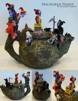 discworld teapot sculpture by richardsymonsart