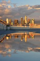 Los Angeles golden hour reflections by yo13dawg