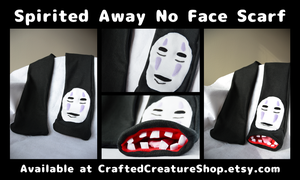 Spirited Away No Face Scarf by CraftedCreatures