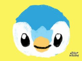 Piplup Pastel Sketch by Maizox